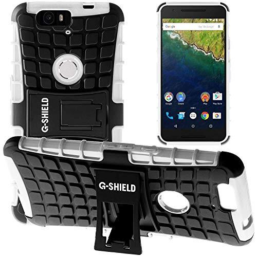 G-Shield Hülle für Google Nexus 6P Stoßfest Schutzhülle mit Ständer - Weiß