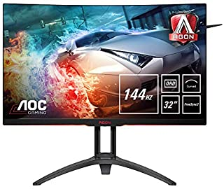 "AOC AG322QC4 31.5"" Widescreen VA LED Black Multimedia Curved Monitor (2560x1440/4ms/VGA/2xHDMI/2xDP/USB) (B07D2VFL34) 