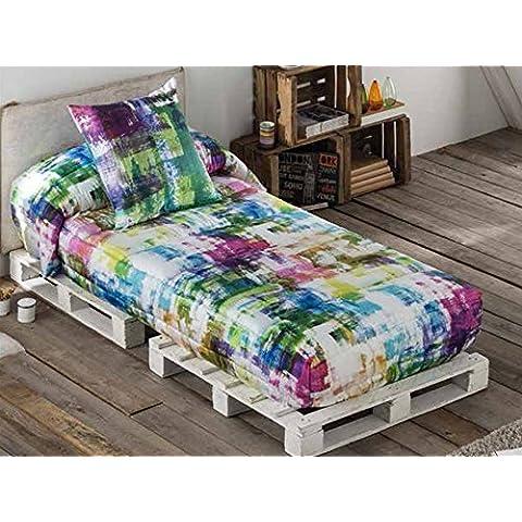 LaNovenaNube - Edredón Ajustable GLOW cama 80/90 - Color Fucsia