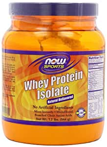 Whey protein isolate nature - 544 g - Now foods