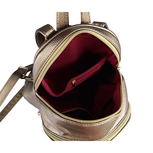 OBC DONNA RAGAZZE JEANS ZAINO In strass Brillantini Denim Cotone zaino da città Zaino Da Città Borsa a tracolla borsa - bianco, ca 28x25x10 cm (BxHxT) Bronza 28x30x12 cm