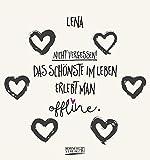 Namenskalender Lena: Ideales Geschenk mit 12 trendigen Typo-Art-Sprüche mit immerwährendem Kalendarium. Wand-Aufstell-Postkarten-Kalender in einem.