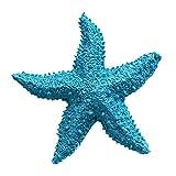 2 Stück Künstlich Seesterne Heim Deko Badezimmer Mittelmeer Fisch Tank Landschaft Ornamente Aquarium zum Dekorieren & Basteln DIY Blau 8cm