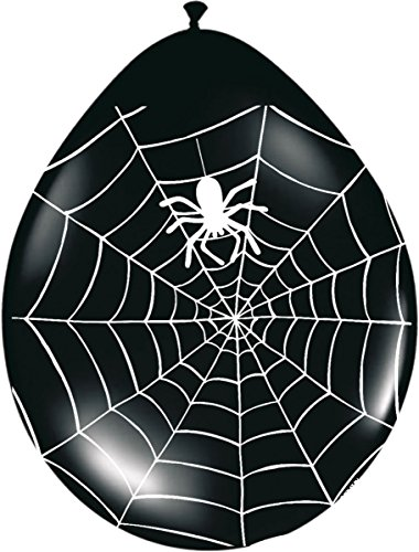 8 Halloween Spinnen Ballons