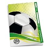 Trötsch 201633 Hausaufgabenheft für Schlaue Fußball, grün