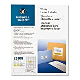 "Mailing Labels,Return Address,Laser,1/2""x1-3/4"",8000/PK,WE, Sold as 1 Package"