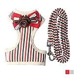 armistore Hundeweste Harness Stripe Front Range Fliege_Atmungsaktive Mesh Baumwolle Leinen