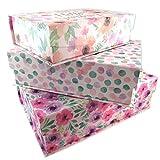 Les Trésors De Lily P5723 - Set aus 3 nistkästen 'Bonheur Floral' pink purple - 42,5x29,5x13 cm.