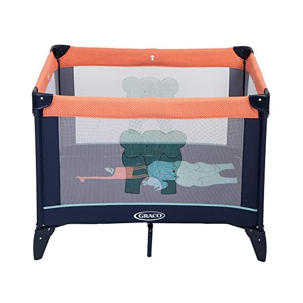 Graco Compact Playpen, Caravan Graco Easy to assemble playpen for all your travel needs; from birth to approx. 3 years Signature graco push-button fold makes closing your playpen quick and hassle-free Fully padded top rails 3