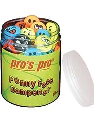 Anti-vibration pour raquettes Pro's Pro Funny Face Lot de 60