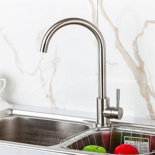 QINLEI warmes und kaltes wasser mischen tap gebürstetem edelstahl wasserhahn großen loch küche teller becken wasserhahn