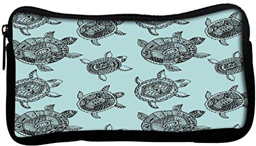 snoogg sans couture motif avec motif tortues sans couture peut être utilisé pour papier peint en toile étudiant Stylo Crayon cas sac de maquillage Porte-monnaie Pochette utilitaire