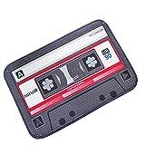 LLQ Vintage Cassette Tape Innen Fußmatte Schwammfüllung Teppich Dekorative Bodenmatte (40 x 60 cm, Rot)