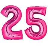 Ballon Zahlen 1-99 in Pink - XXL Riesenzahl - zum Geburtstag - Riesen Luftballon 25