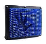 Aideal Pinart Spielzeug 3D Eindruck Skulptur Nagelbrett Spielzeug Stress Reduzieren Büro gadgets intelligenz spielzeug für Kinder&Erwachsene, 25,5x21x5,7cm (Blau)