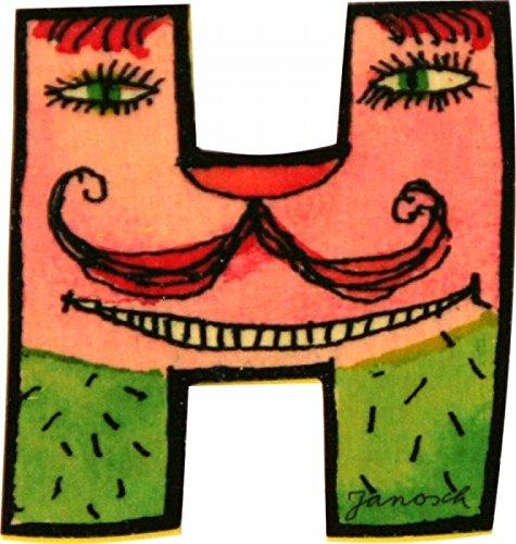 Janosch Holzbuchstabe H farblich sortiert