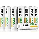 EBL AA Ni-MH Rechargeable Batteries 16-Count (2300mAh Storage Battery Box Packed)