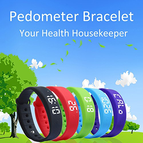 Sports-Bracelet-Rcool-3D-LED-Bluetooth-Smart-Wristband-Sleep-Sports-Fitness-Health-Monitor-Activity-Tracker-Step-Pedometer-Walking-Calorie-Counter-Smart-Watch-Bracelet-Compatible-with-iPhone-iOS-and-A