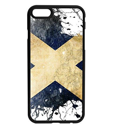 Scotland Scottish Grunge Flag Rubber Bumper Hard Back Phone Case Cover for (iPhone 7) (X Flag 6 4)
