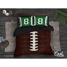 Fútbol de edredón por Cool Bedding de cama, AFA inspirado en cama o colcha, fútbol americano ropa de cama