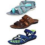 Super Men Combo Pack Of 3 Sandals With Slipper