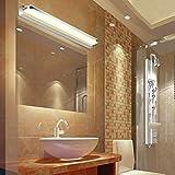 ELINKUME 7W 420mm 770LM LED Spiegelleuchte Badlampe Wandleuchte Edelstahl Acryl Warmweiß