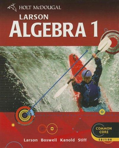 Holt McDougal Larson Algebra 1 (Holt Mcdougal Algebra 1)