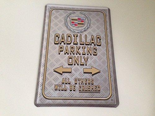 cadillac-parking-only-targa-in-metallo-20-x-30-cm-parcheggio-garage-carport-scudo-21
