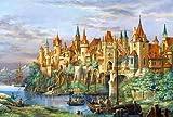 Colour Talk Venezia port-diy dipinto di numero kit olio di paesaggio soggiorno immagini da parete senza cornice 40,6x 50,8cm City of Rothenburg, Without wood frame