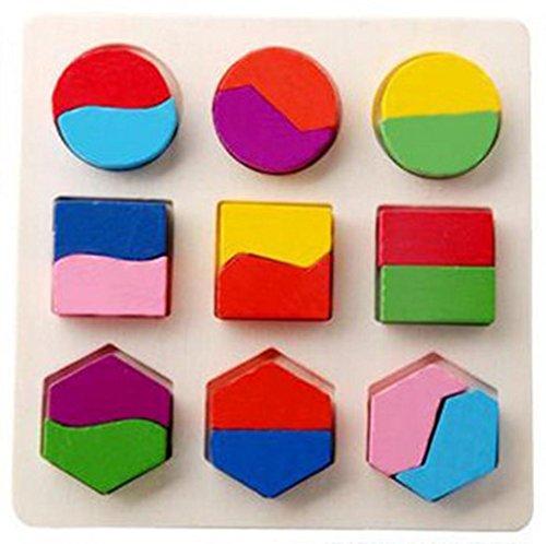 QUINTRA Kinder Baby Holz Geometrie Bausteine Puzzle Früherziehung Pädagogisches Spielzeug - Hund Jig Puzzle Saw