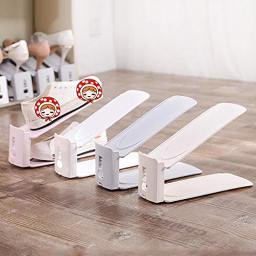 ACC 4 bunte Präsentationsregal, Schuh-Organizer, platzsparend, Kunststoff