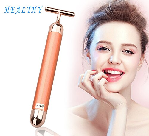Geschenk für den Valentinstag Face-lift Firming Electric Vibration Massager Electronic Facial Roller Waterproof Micro Vibrating Massager...