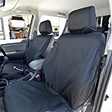 UK Custom Covers SC139B-140B Tailored Front Seat Covers, Black