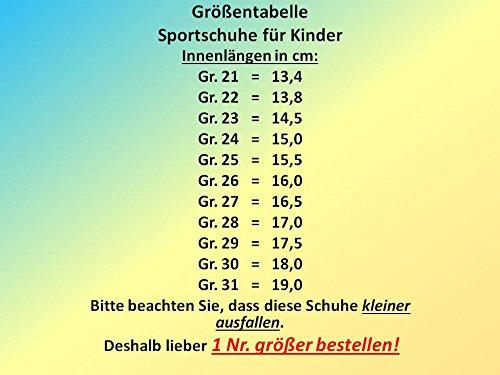 GIBRA® Kinder Sportschuhe, mit Klettverschluss, grau/koralle, Gr. 21-31 grau/koralle
