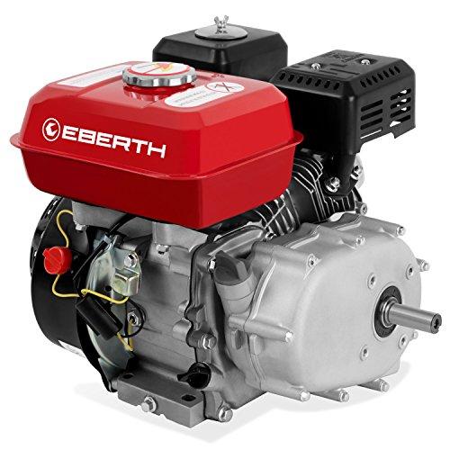EBERTH 6,5 CV Motore a benzina con Frizione a bagno d'olio (20 mm Albero, Motore a scoppio 4 tempi, 1 Cilindro, Raffreddato ad aria, Protezione da mancanza olio, Avviamento a strappo)