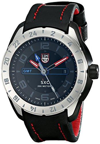 Luminox Herren Analog Quarz Uhr mit Leder Armband 5127