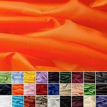 Seda Tafetán - 100% poliéster - Por metro - 27 colores (naranja)