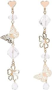 2 Paire Femme Fashion Cristal Strass papillon Fleur Oreille Goujon Boucles D/'oreilles craft