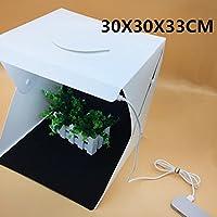 Mini Photo Studio Caja de fotografía plegable LED Mini Light, Lampe Unique, 30X30X33CM