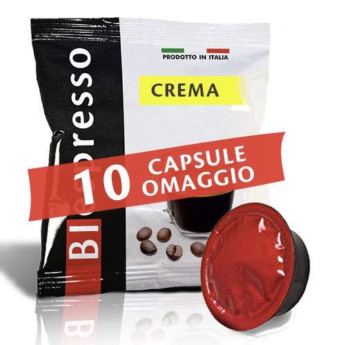 Biespresso 400 capsule compatibil lavazza a modo mio, 10 capsule in omaggio, caffè, miscela crema, peso 3,5 kg, produzione italiana