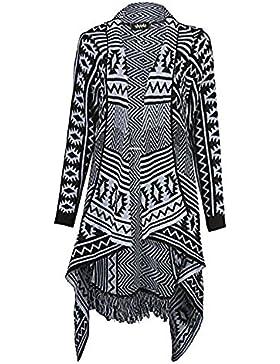 Zara Fashion-WomenTassel Frill Cascata Aztec Tribal Cardigan Stampa