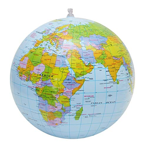 para la Escuela WR Inflable del Globo del Mundo Océano Tierra Bola Mapa Geografía de Aprendizaje de los niños for la Educación Pelota de Playa, Tamaño: 30 cm