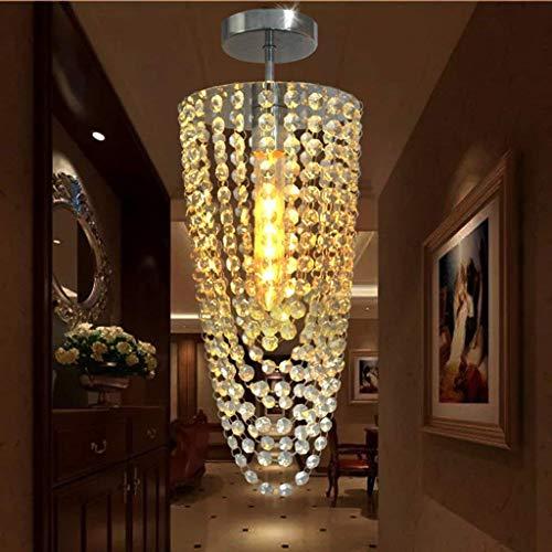 AMA Gbyzhmh führte, Beleuchtung 1-Light Contemporary Chrome K9 Kristall Beleuchtung Kronleuchter D17 * H45 Zentimeter Ac 110V-256V Farbe Transparente Innenbeleuchtung,Weiß-18cm -