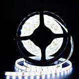 Tailcas® Waterproof 5630 LED Tape 5M/300LEDs 60LEDs Per Meter Cool White Led Strip Ideal For Gardens, Homes, Kitchen, Under Cabinet, Aquariums, Swimming pool, Fish Tank, Cars, Bar, DIY Party Decoration Lighting - (Cool White)