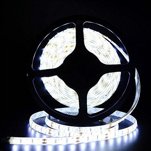 Tailcas® Super Bright Kaltweiß Wasserdicht 5M 5630 300 LEDs Flexibler Streifen LED Strip Leiste LED Lichtkette Lichtband LED Band LED Lichtschläuche - Netzteil 12V (nicht enthalten)