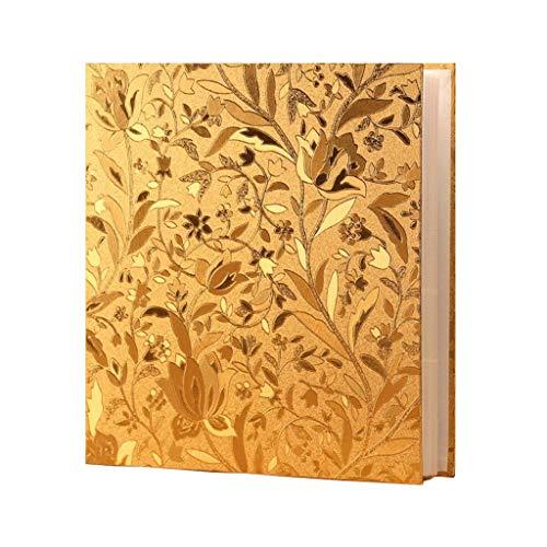 HongTeng Album Fotoalbum, 5 Zoll 6 Zoll 7 Zoll Gemischt 650 große Kapazität Leder Fotoalbum Dieser Insert-Typ, Geeignet für Familie, Hochzeit, Abschlussfeier, 32x30x5cm (Color : Leaflet Gold) (5x7 Leder-album)