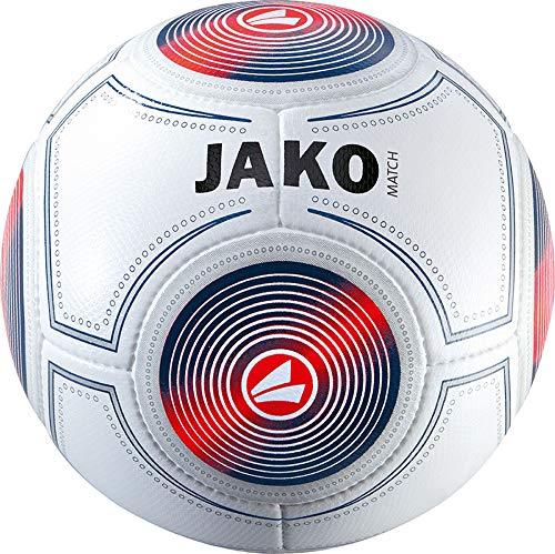 JAKO Herren Trainingsball Match, weiß/Marine/Flame, 5 -