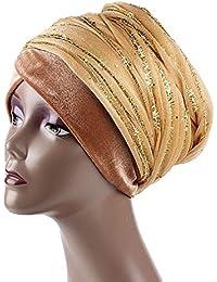 Kopfbedeckung Mütze Hut Turban Cap Chemomütze Bandana Damen Frauen Big Blume