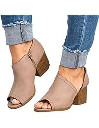 es Sandalias Mujer Amazon De Vestir Zapatos Para Cremallera dvTgOBgc7