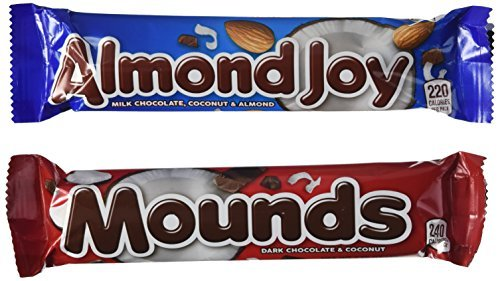 almond-joy-and-mounds-24-bar-variety-pack-2-pound-83-ounce-by-the-hershey-company